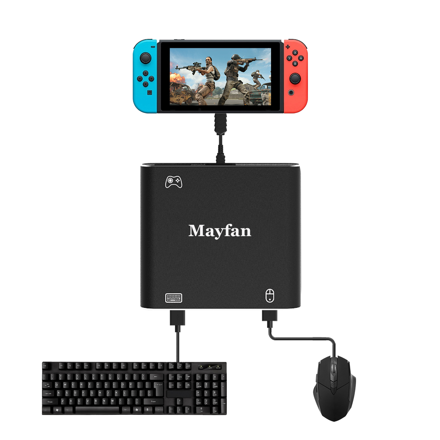 US $15 99 |Mouse Controller Keyboard Adapter for PUBG,for Battle Field and  Other Shooting FPS Game Converter for PS4/ Xbox one/Switch-in Joysticks