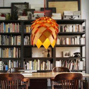 Image 5 - Ретро скандинавские светодиодные подвесные лампы Pinecone, современные деревянные современные DIY IQ элементы, пазл, спальня, искусство, деревянные лампы светильник ветительные приборы