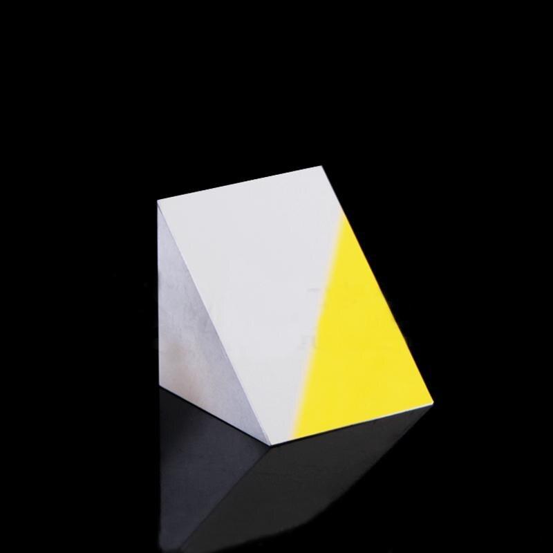 20x20x20mm Optical Glass Triangular Lsosceles K9 Prism With Reflecting Film20x20x20mm Optical Glass Triangular Lsosceles K9 Prism With Reflecting Film