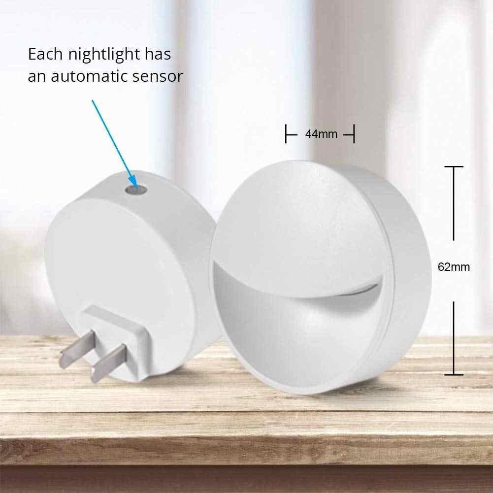Led Night Lights With Auto Dusk To Dawn Sensor, Light Sensor Wall Nightlight Warm White For Bedroom, Bathroom, Kitchen, H