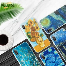 KISSCASE Starry Sky Sunflower Oil Painting Phone Case For Huawei P10 20 Lite Pro P Smart Mate 10 Honor 9 8X 7A 7C