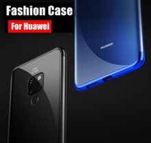 Transparent case For Huawei mate 20 pro Case Plating Silm for Mate Lite Ultra thin electroplate tpu shining cover