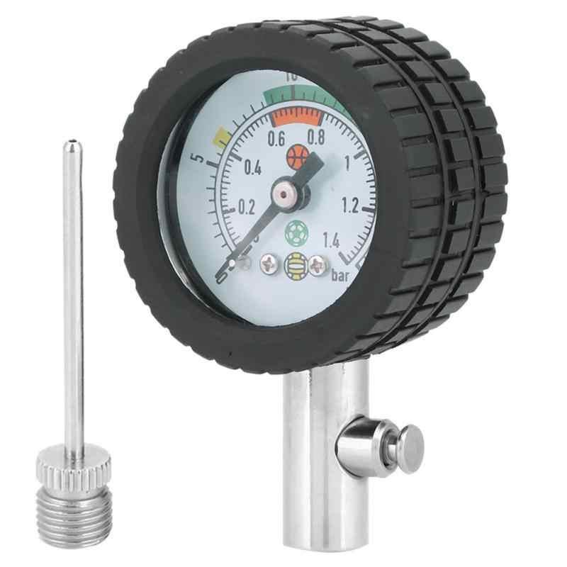 Profesional Bola Basket Sepak Bola Voli Air Gauge Stainless Steel Alat Ukur Tekanan Udara Barometer Alat Aliexpress