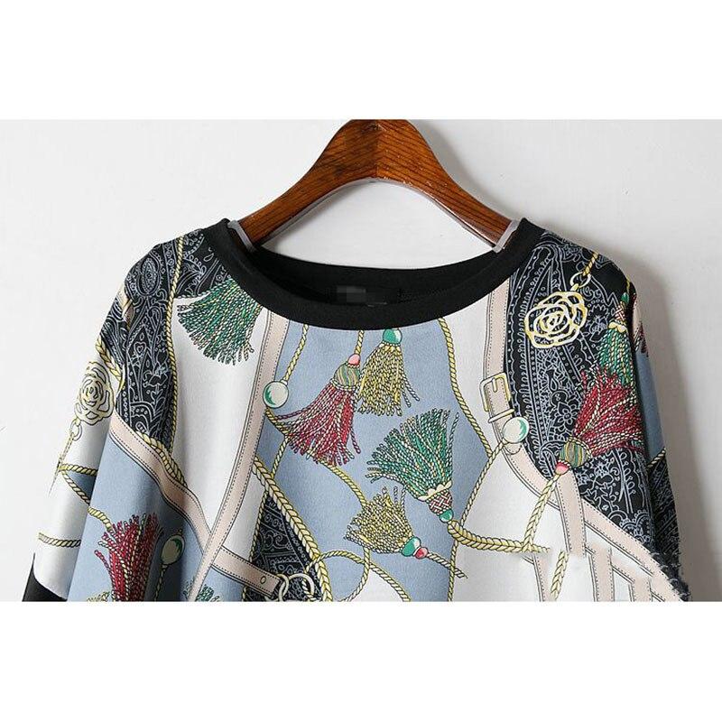 Long Women Europe Fashion 2019 Spring Summer O-neck Short Sleeve T-shirt Female Patchwork Casual Irregular Tee E470 5