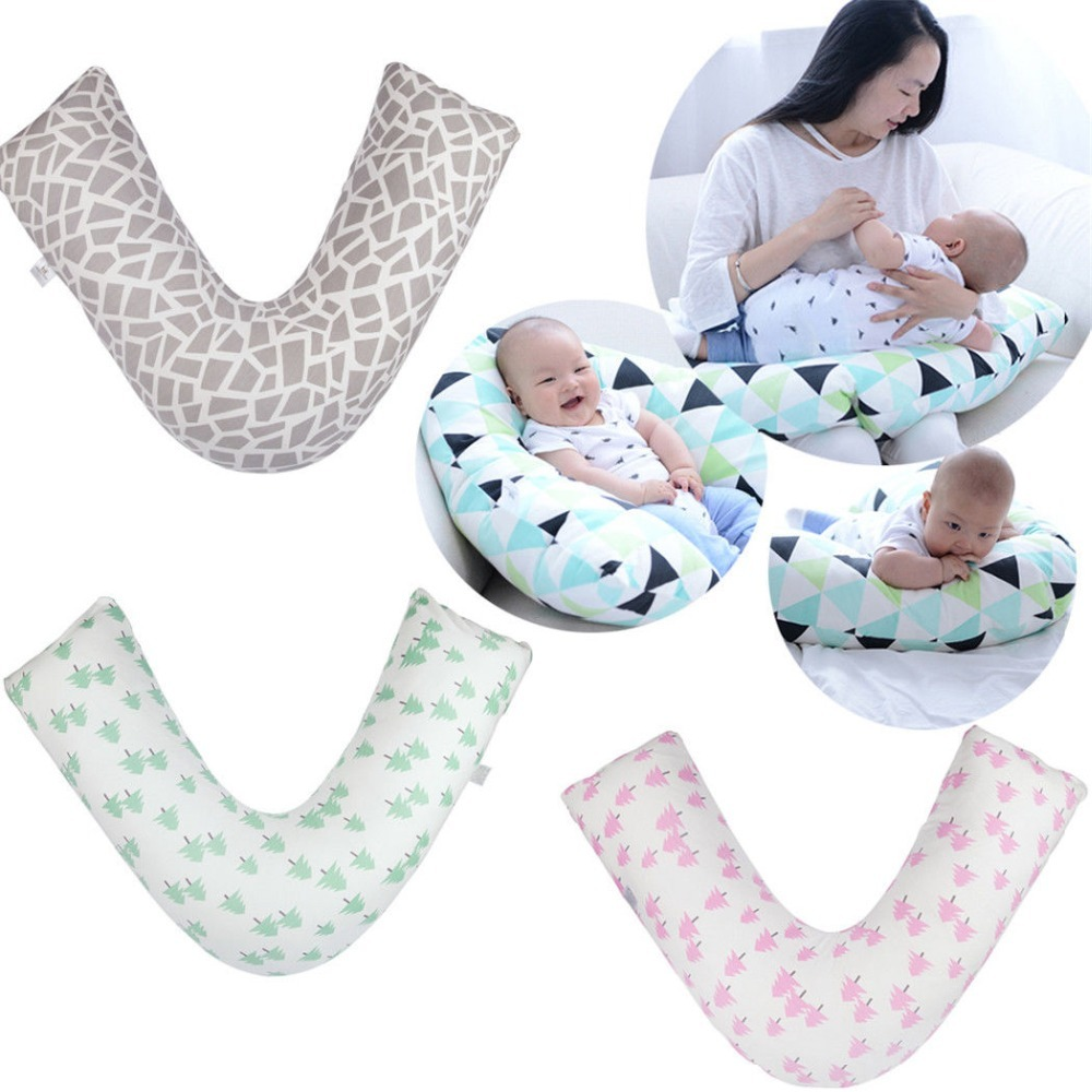 Newly And Multifunctional V Shaped Nursing Pillow Mother And Newborn Baby Breastfeeding Pillow Pregnant Women Waist Cushion