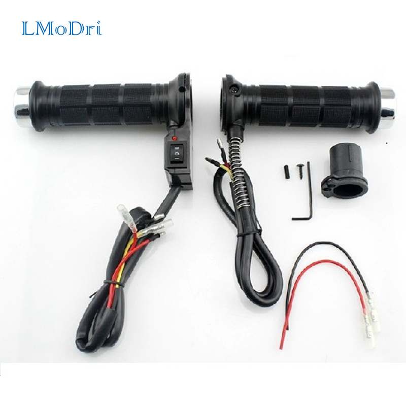 LMoDri Universal Motorcycle Heated Grip Handle Bar Motobike Heating Grips 7/8