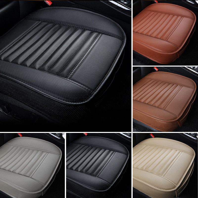 Universal Car Seat Cover Breathable PU Leather Pad Mat For Auto Chair Cushion Car Front Seat Cover Four Seasons Anti Slip Mat-in Automobiles Seat Covers from Automobiles & Motorcycles
