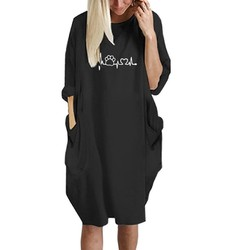 2019 New Fashion shirts Dog Cat Heart Print Tops Plus Size Tshirt Funny clothing  Kyliejenner Rock tshirt women plus size 2