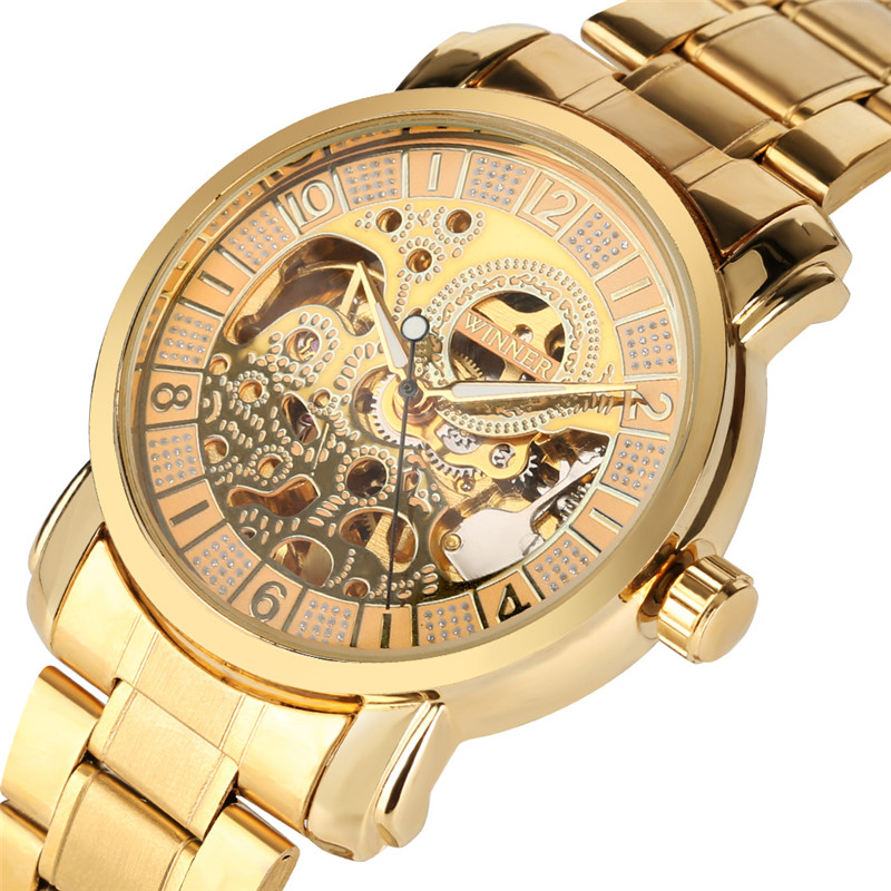 Automatic Mechanical Watches Men Skeleton Hollow Dial Mechanical Watch Mens Watches Top Brand Luxury Colck Relogio Masculino