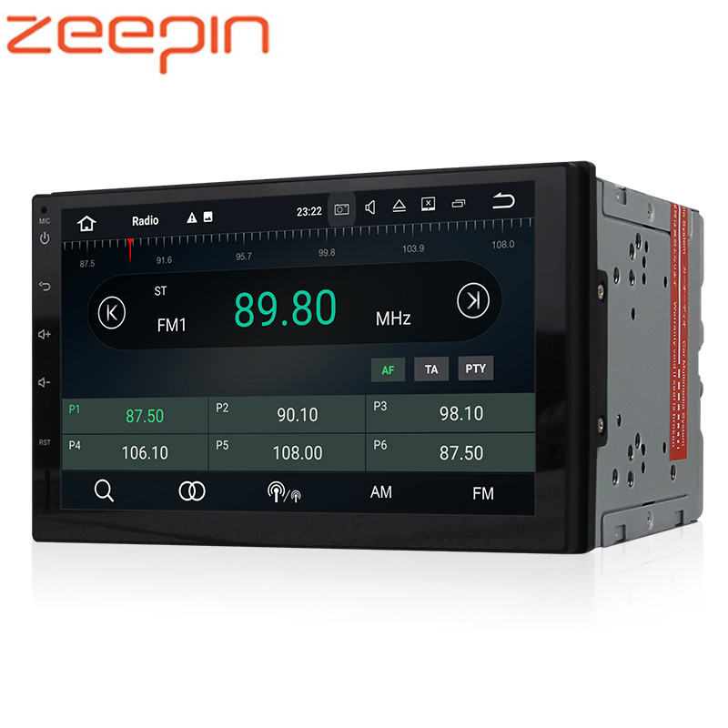 Clearance! ZEEPIN WE7068 Car Head Unit 2GB+16GB Android 7.1.2 Receiver 7-inch Entertainment Audio Bluetooth DVD Player Head Unit