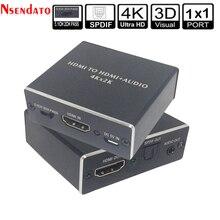 4K x 2K HDMI a HDMI + Audio 3,5mm convertidor estéreo 5,1 canales óptica SPDIF adaptador Extractor de Audio divisor para PS4 HDTV STB PC