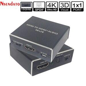 Image 1 - 4K x 2K HDMI vers HDMI + Audio 3.5mm convertisseur stéréo 5.1 canaux optique SPDIF Audio extracteur adaptateur séparateur pour PS4 HDTV STB PC