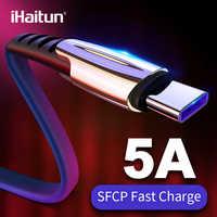 IHaitun 5A USB tipo C para Huawei P20 Lite Honor 10 9 Pro 3,1 de carga rápida Cable de datos del teléfono cargador Samsung S9 Redmi Note 7