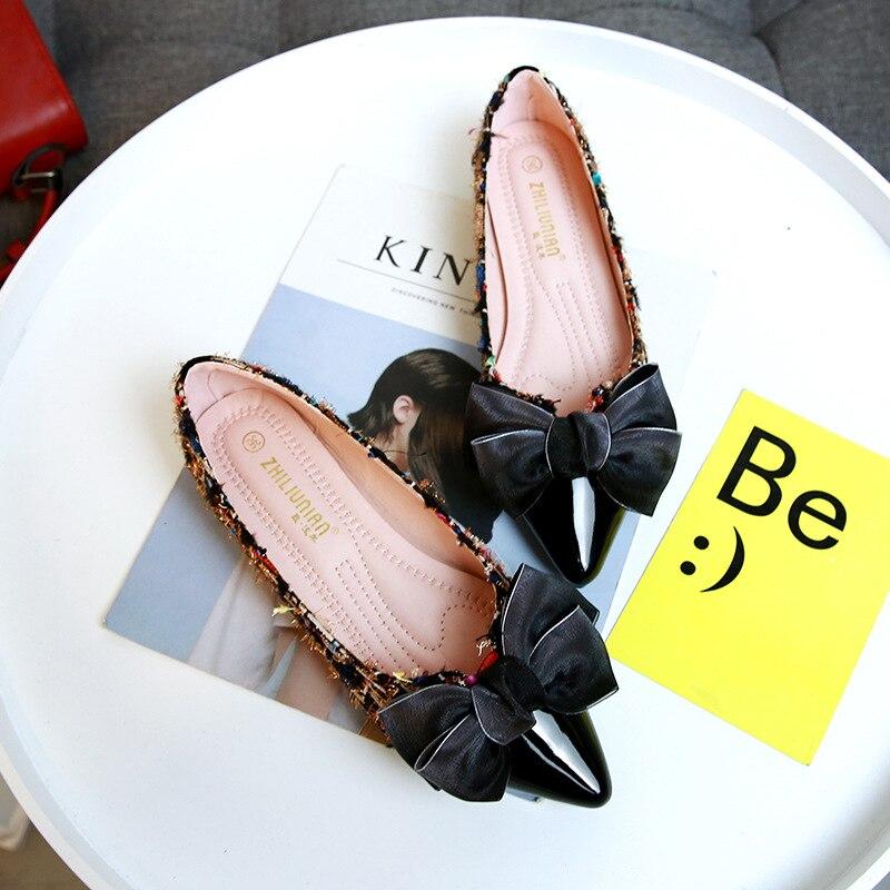 Verano Arco Puntiagudo Calzado Nuevo Barco Dedo gris 35 Mocasines Pie Pisos Tamaño Las 43 Negro On Dulce Zapatos Del Mujer Perezosos De Planos Slip Moda Plus Mujeres 6vI7BHWH