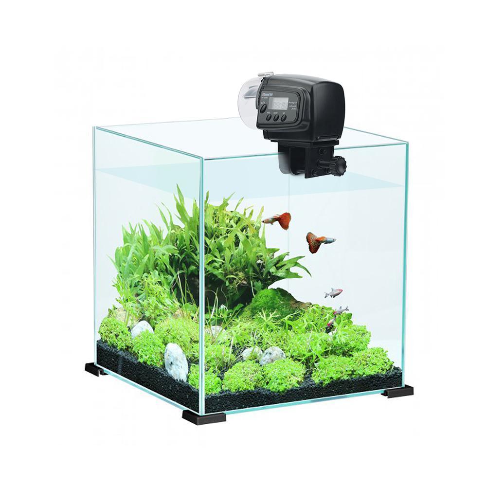 Adeeing 65 ml distributeur automatique de nourriture pour poissons pour Aquarium Aquarium mangeoires automatiques avec minuterie distributeur d'alimentation pour animaux de compagnie