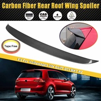 Full Real Carbon Fiber Spoiler Rear Roof Wing Spoiler Lip Fit For Volkswagen for VW Golf7 GTI MK7 RZ Car Styling