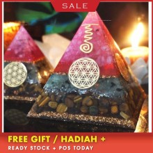 Orgonite Aura High Frequency Energy Pyramid Helping Love Business Soothe The Soul Yoga Meditation Decoration Gift