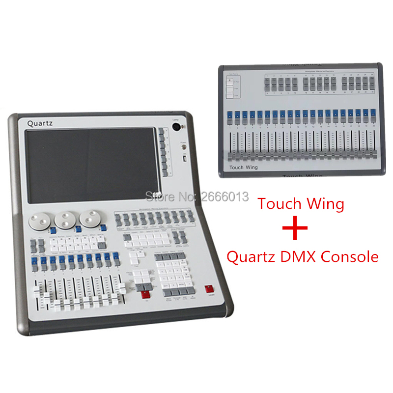 Quartz DMX Stage Lighting Console 11.1/11.0/10.1/10.0/9.1 System Tiger Titan Quartz Controller +Touch Wing With Flight CaseQuartz DMX Stage Lighting Console 11.1/11.0/10.1/10.0/9.1 System Tiger Titan Quartz Controller +Touch Wing With Flight Case
