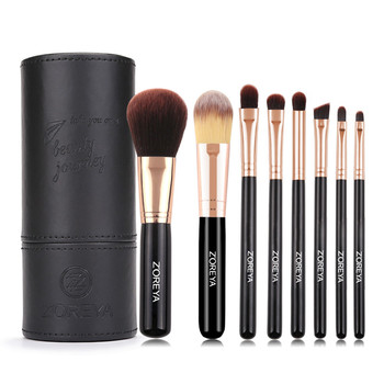 ZOREYA Brand 8Pcs High Quality Makeup Brush Sets Foundation Powder Lip Eye Brow Shadow Cosmetic Tools For Daily Face Make Up 4