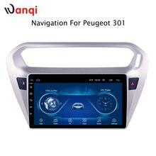 Автомобильный радиоприемник для peugeot 301 Citroen Elysee 2014-2018 Android 8,1 HD 9 дюймов сенсорный экран головное устройство gps навигации мультимедийный плеер