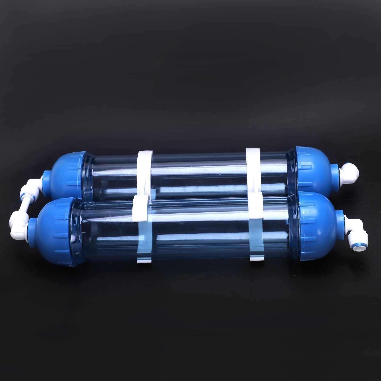 تصفية المياه 2 قطعة T33 خرطوشة الإسكان Diy T33 قذيفة زجاجة الفلتر 4 قطعة تركيبات منقي مياه ل نظام التناضح العكسي