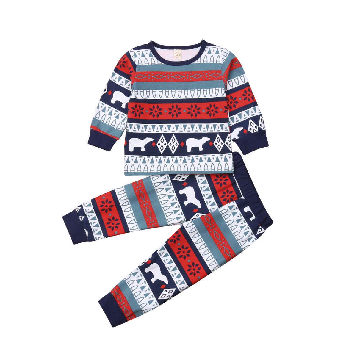 คริสต์มาสครอบครัวชุดนอนชุดเสื้อผ้าผู้ใหญ่เด็กชุดนอนชุดนอนชุดนอน Xmas Pjs เสื้อผ้าชุด