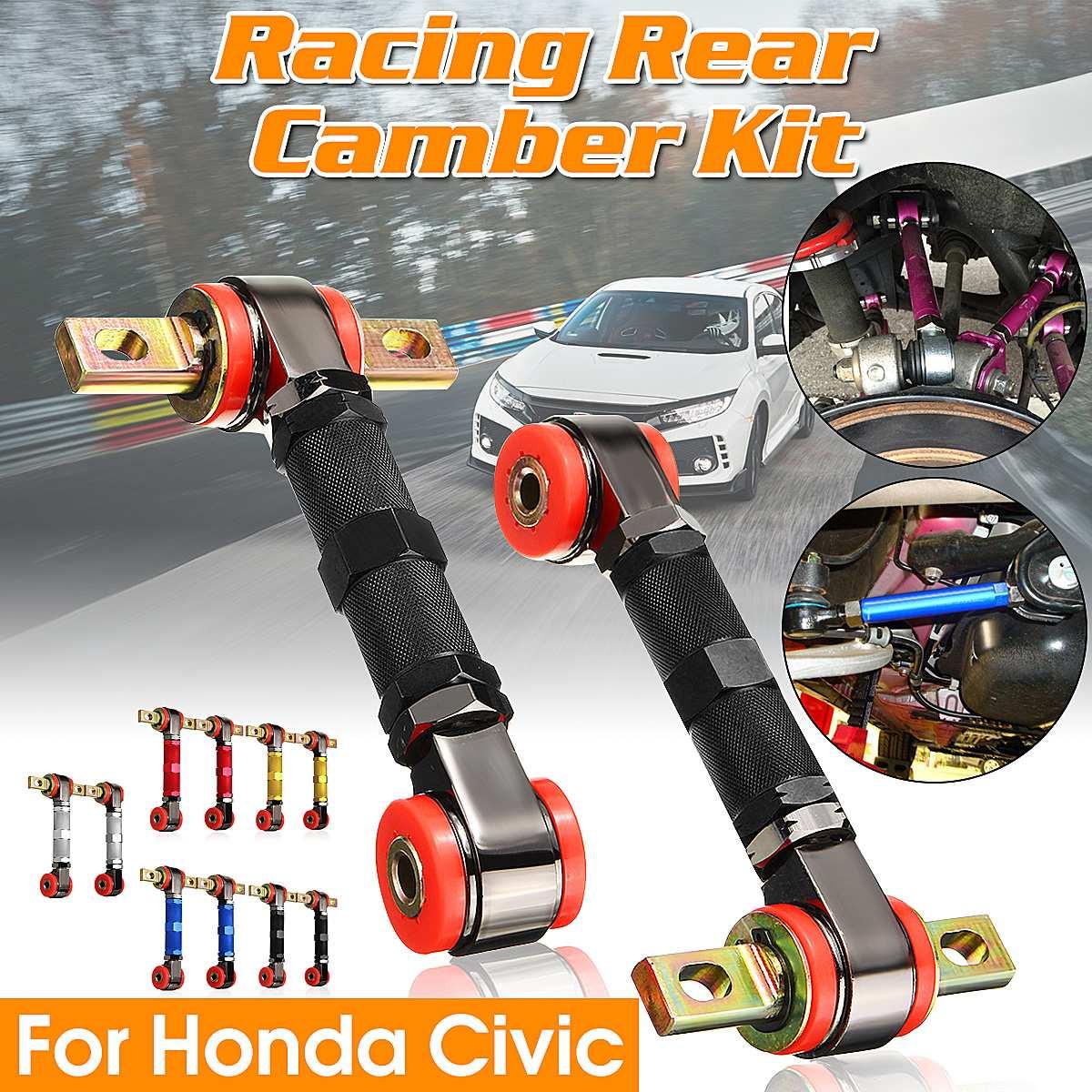 2 xAdjustable Bras Camber Kit Racing Arrière Suspension de Carrossage Bras Kit Arrière Camber Kit Pour Honda Pour Civic pour Coupé