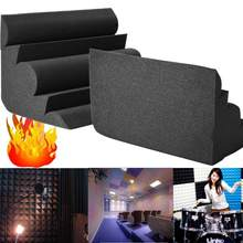 1Pcs Acoustic Bass Trap Acoustic Foam 300x300x500mm For Corner Wall Soundproof Sponge Studio Room Absorption Wedge Tiles Foam