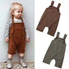 Baby Boys Girls Spring Rompers Pants Overalls