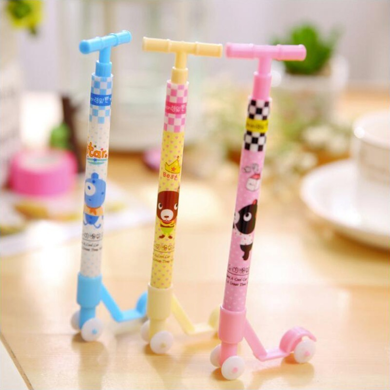 Cartoon Scooter Ballpoint Pen 0.5 Mm Blue Ink High Quality School Student Stationery And Office Supplies Pen 1PCS
