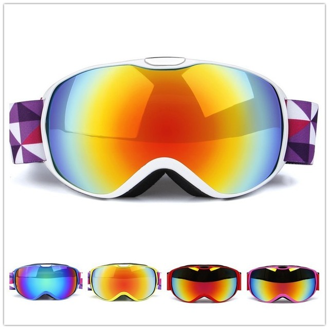 8af1ea543005 Ski Goggles Kids UV400 Anti Fog Spherical Double Lens Children Snowboard  Skiing Glasses Snow Mask Snowboarding