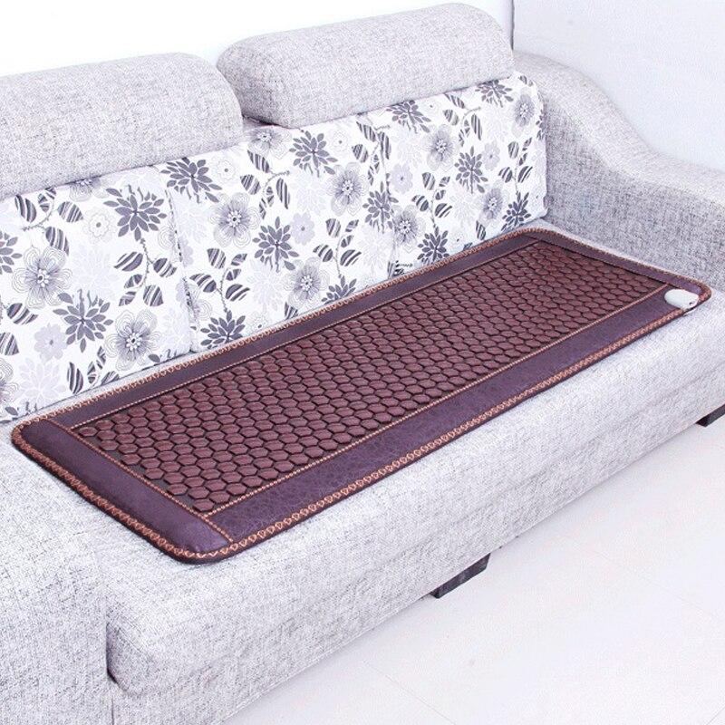 Elétrica Natural Mat Turmalina Aquecimento Colchão Da Massagem Do Pescoço Para Trás Alívio Da Dor Terapia Térmica Mat Para Relaxar