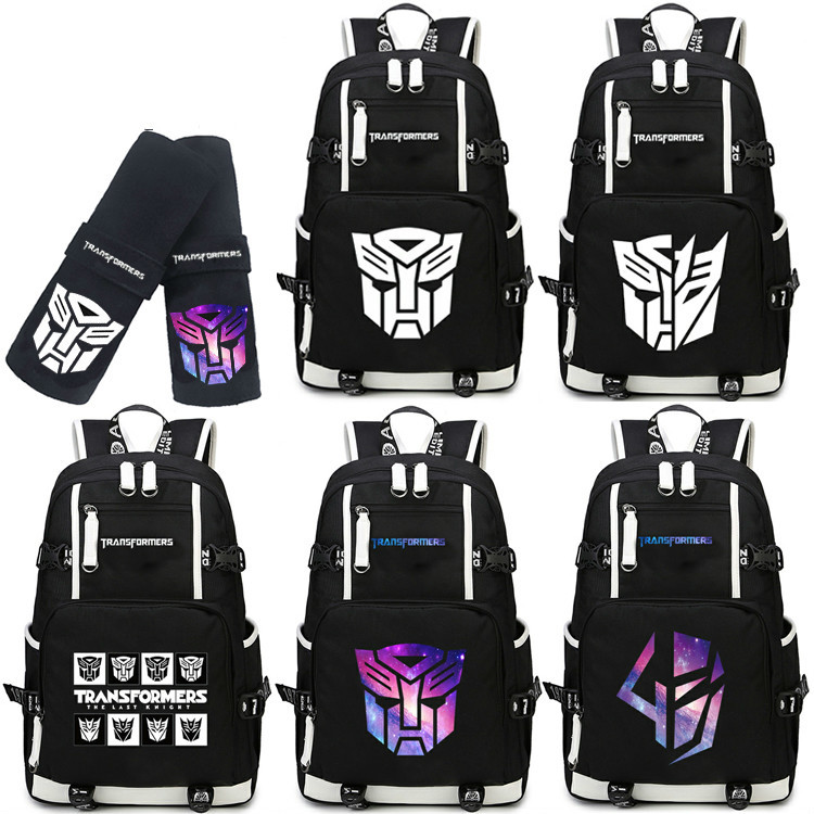 Transformers Shoulder Bag Optimus Prime Convoy Backpack Megatron Students Travelling Bag transformers prime