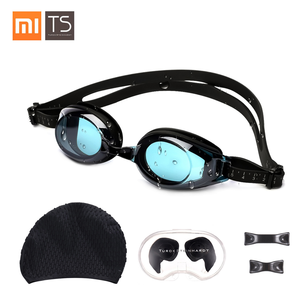 Xiaomi Turok Steinhardt TS Adult Anti-fog Coating Swimming Goggles Set Waterproof Swim Goggles + Swimming Cap + Swimming Earplug