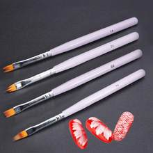 Professional Gradient Painting Nail Brush UV Gel Flower Drawing Pen Long Handle Floral Painting Brush Manicure Nail Art Tools(China)