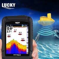 Glück FF718LiC Tragbare Wireless Fisch Finder Anstelle von FF718 Bunte Display Fishfinder Angeln Sonar Echolot Alarm