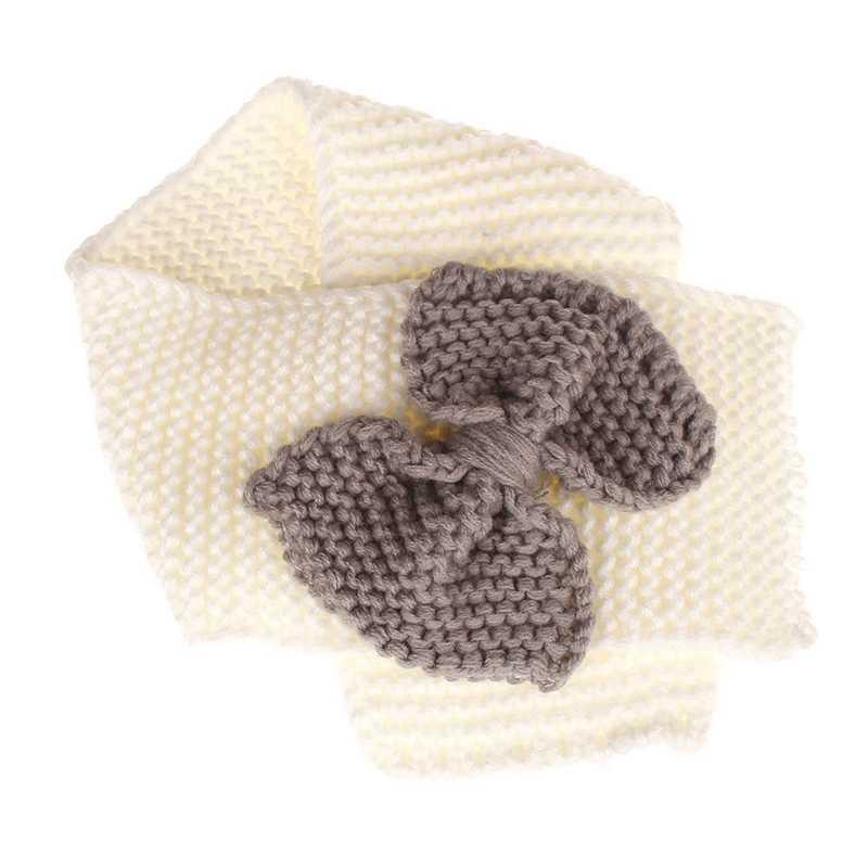 Лидер продаж, 2018 теплое зимнее вязание, шерстяной шарф, галстук-бабочка для девочки, милый вязаный шарф-шаль, Новинка