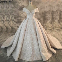 Dubai New Composite Lace High end Wedding Dress 2020 Off Shoulder Sexy Luxury Sparkle Bridal Gown Real Picture HA2163