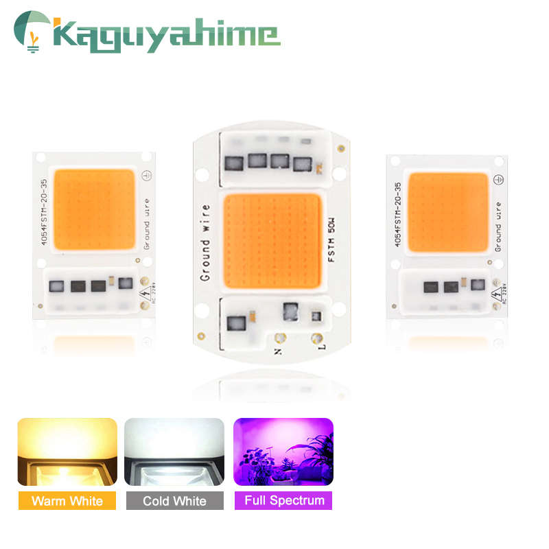 Kaguyahime 220V Integrated <font><b>LED</b></font> Grow Light <font><b>UV</b></font> Full Spectrum/Warm/Cold White COB Chip 20W 30W 50W 100W For Flower Plant Spotlight image