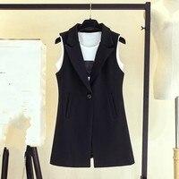 2019 Women Spring Autumn Sleeveless Vest Lady Work Wear Waistcoat Casual Single Button Est Jacket Coat Plus Size 3XL