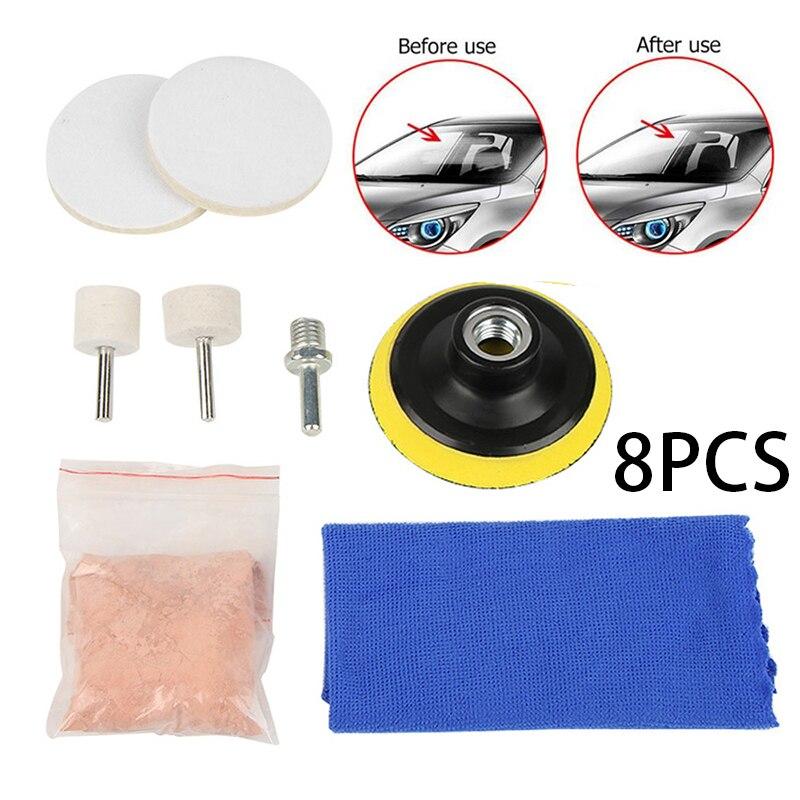 8pcs/5pcs Car Windscreen Polishing Kit Practical Auto Car Windows Scratch Remover Glass Polishing Kit Scratch Repair Tool