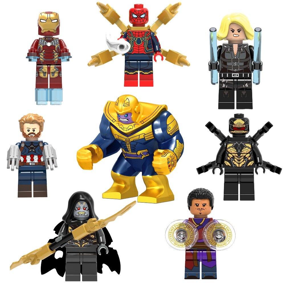 16 pc Avengers Infinity guerre minifigs Super Héros Marvel Fit Lego Mini Figures UK