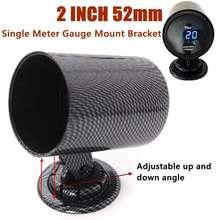Карбоновое волокно Универсальный черный 52 мм калибровочный кронштейн держатель кронштейн для Pod одно отверстие калибровочный кронштейн
