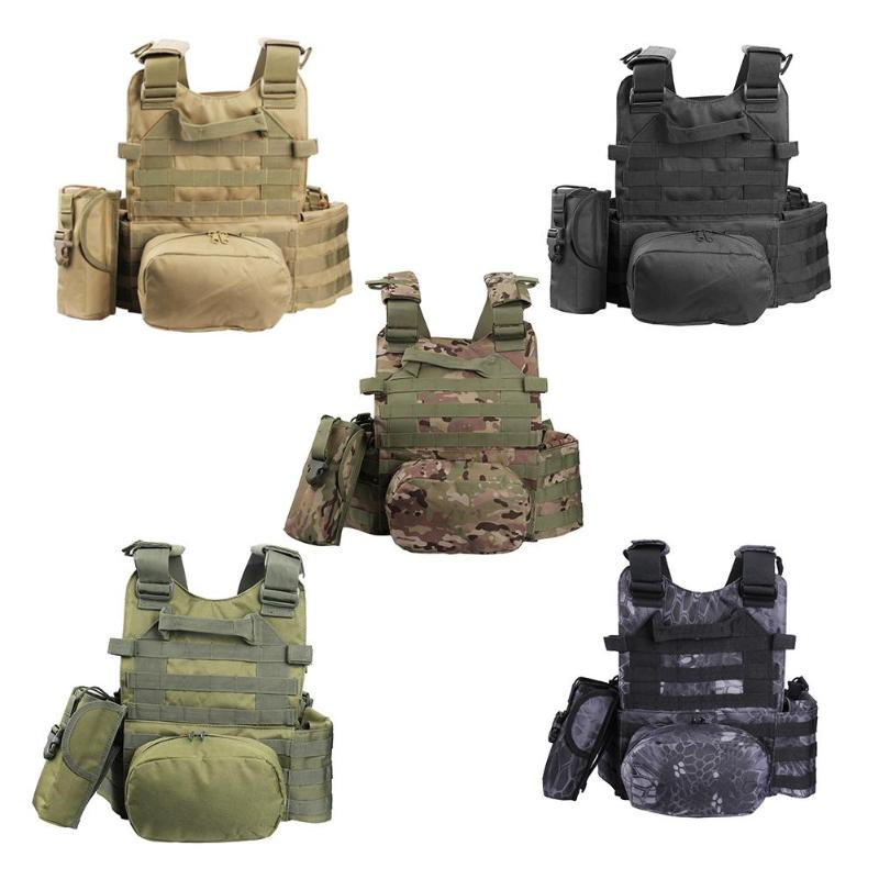Military Tactical Vest Army Airsoft Molle Vest Combat Hunting Vest with Pouch Assault Plate Carrier CS Outdoor Jungle Equipment tochung binoculars 10x50 professional hunting telescope military zoom binoculars high powerful waterproof binoculars for sale