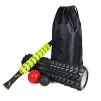 Yoga Column Massage Stick Combination Set Foam Shaft Fascia Ball Massage Relaxing Roller Yoga Kits