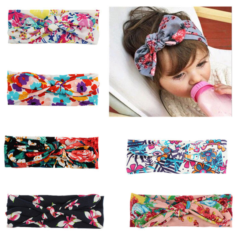 Balleenshiy Baby Headband Lovely Bowknot Elastic Head Bands For Baby Girls Kids Headwear Hair Accessory Bandeau Bebe Fille