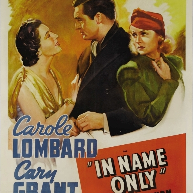In name only Carole Lombard vintage movie poster