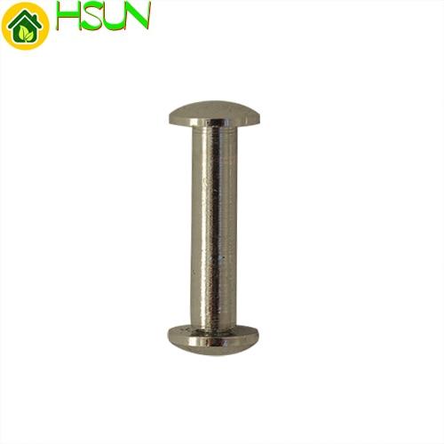 NEW 18mm Length 10pcs/lot Solid Copper Chicago Screw Nail Rivets Stud Rivet Strap Fastener Assembling Bolt