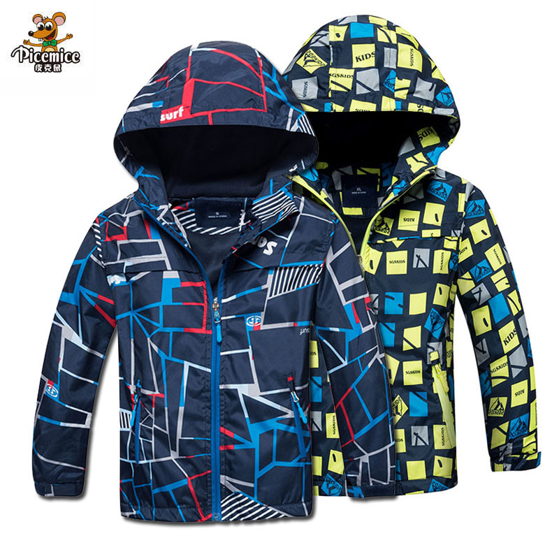 Fleece Coat Jackets Outerwear Hooded Kids Clothes Baby-Boys Waterproof 3-12y-Autumn-Spring