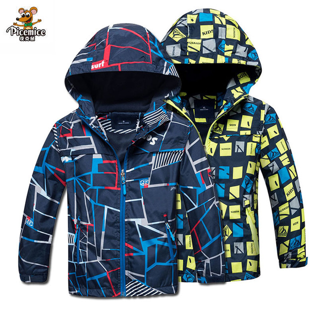 Children Outerwear Warm Polar Fleece Coat Hooded Kids Clothes Waterproof Windproof Baby Boys Jackets For 3-12Y Autumn Spring